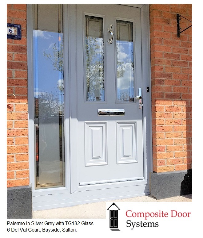 Silver Grey Composite Doors -  6-Del-Val-Court-Sutton-