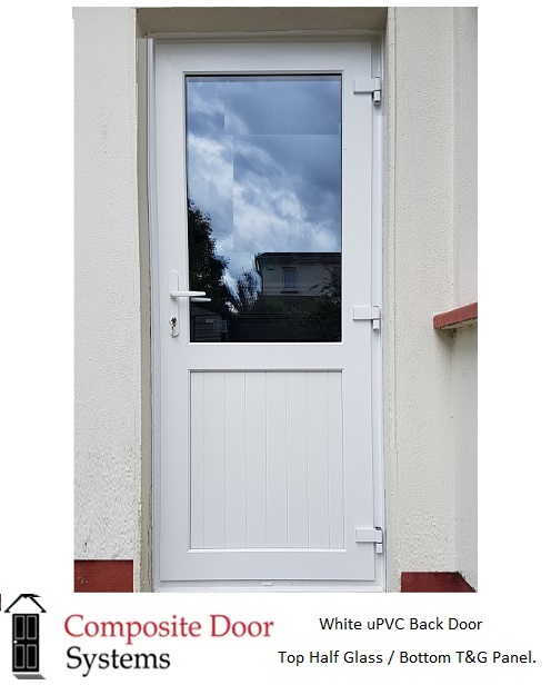 White uPVC Back Doors custom made for all customers