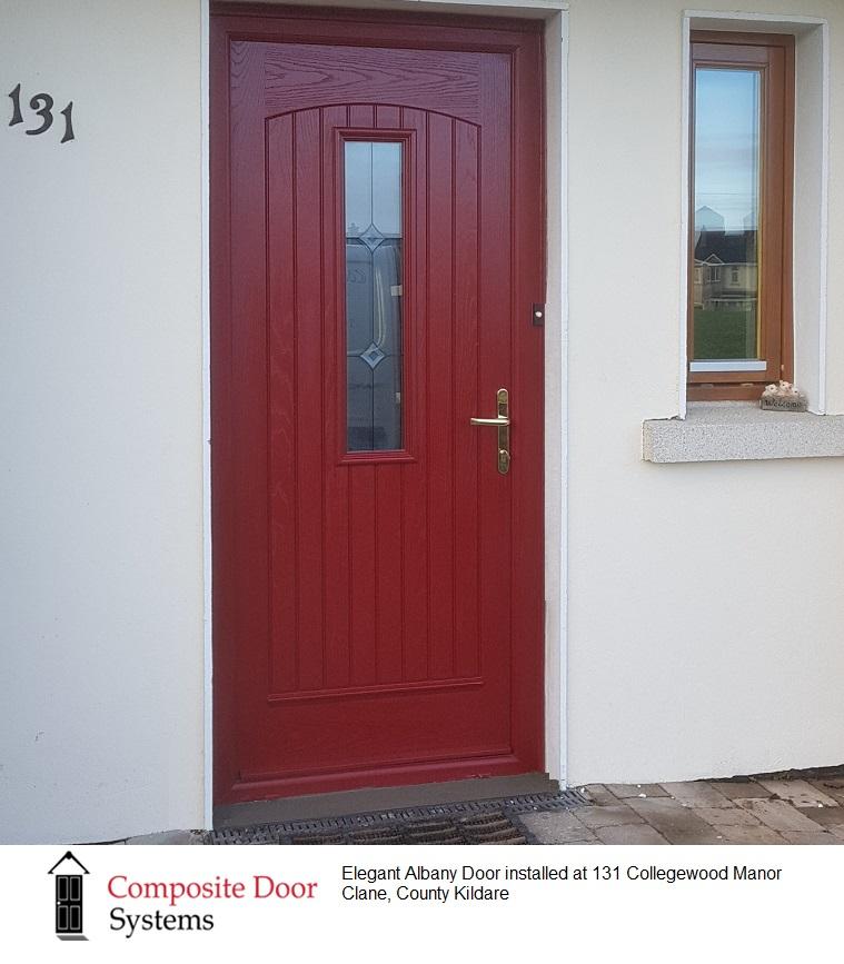 front door in red