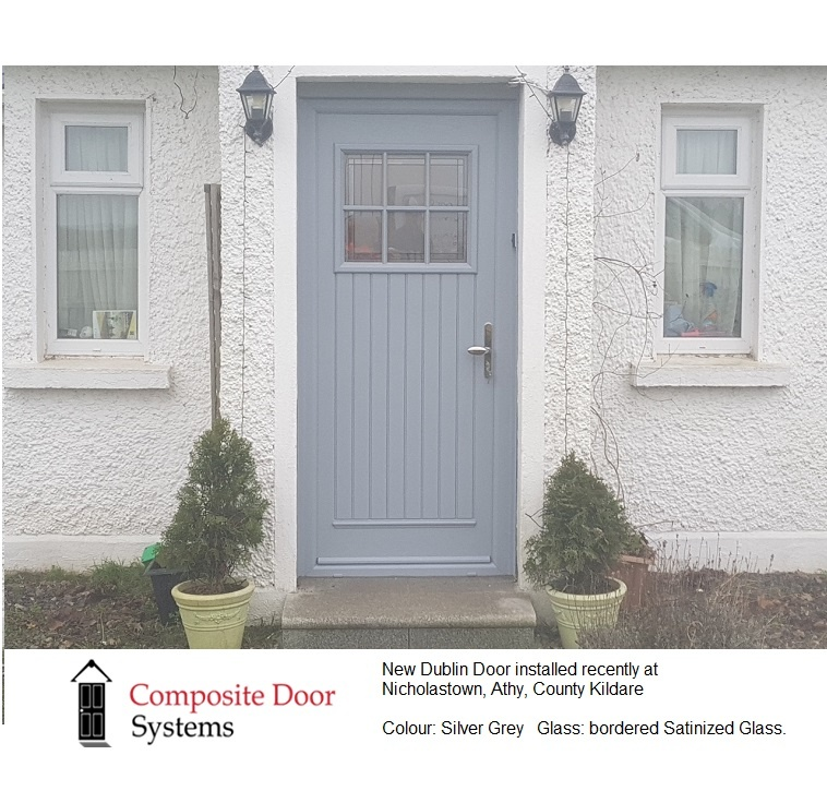 this is an image of a composite door recently installed in Athy, County Kildare
